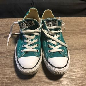 Teal Lace Up Converse